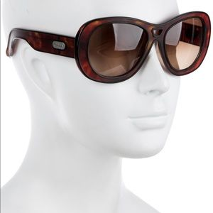 Chloe' Oversized Marbled Sunglasses